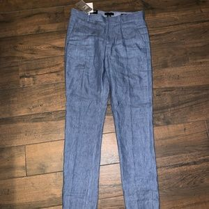 H&M men's linen pants 32r NWT new blue
